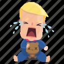 child, crying, emoji, emoticon, man, sticker, trump, donald trump icon