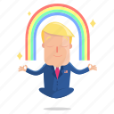 emoji, emoticon, man, meditation, sticker, trump, donald trump
