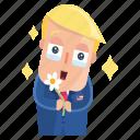 emoji, emoticon, man, pretty, sticker, trump, donald trump icon