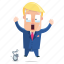 emoji, emoticon, man, scared, sticker, trump, donald trump