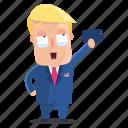 emoji, emoticon, man, selfie, sticker, trump, donald trump