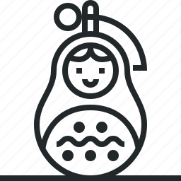 fraud, grenade, matrioshka, peace, russia, russian, trick icon