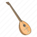 cartoon, melody, saz, sound, string, turkey, turkish icon