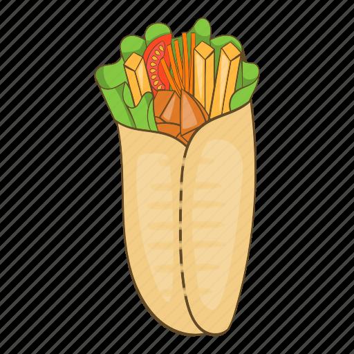 Cartoon, delicious, design, doner, kebab, shawarma, turkish icon - Download on Iconfinder