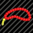 beads, cartoon, design, necklace, pray, religious, turkish icon