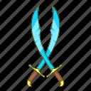 cartoon, iron, medieval, scimitar, sharp, steel, turkish icon