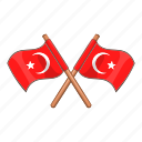 attribute, cartoon, flag, mark, pin, turkey, turkish icon