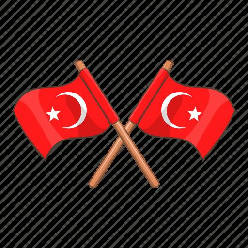 Turkey, pin, turkish, attribute, mark, flag, cartoon icon - Download