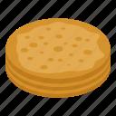 cartoon, food, isometric, logo, pancake, summer, turkish icon