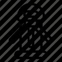 isolated, thin, turnstile, vector, yul989 icon
