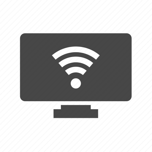 electronics, monitor, technology, tv, wireless icon