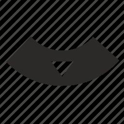arrow, bottom, control, tv icon