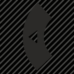 arrow, control, left, tv icon