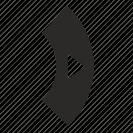 arrow, control, right, tv icon
