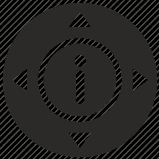 arrow, control, menu, tv icon