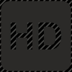 definition, hd, high, quality, tv icon
