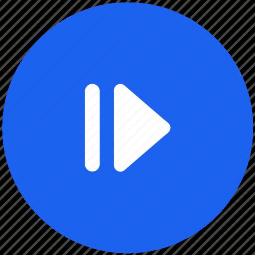 arrow, go, navigation, next, tv icon