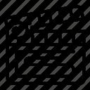 clapper, thin, vector, video, yul925 icon