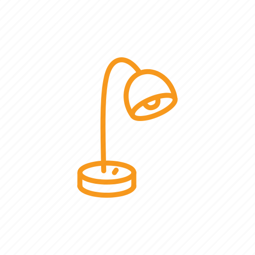 lamp, lighting, reading-lamp, table lamp icon