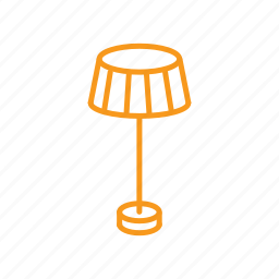 floor lamp, lamp, lampshade, lighting icon
