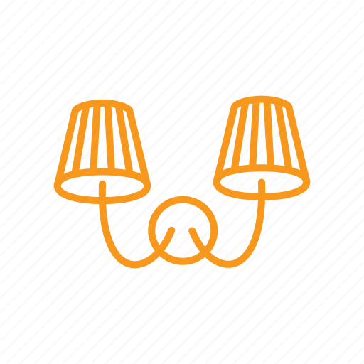 lamp, lampshade, lighting, sconce icon