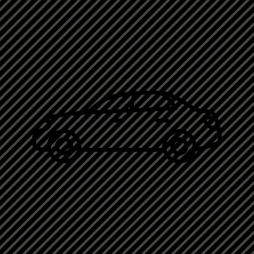 automobile, car, sedan icon