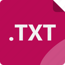 data, document, extension, file, format, notepad, txt icon