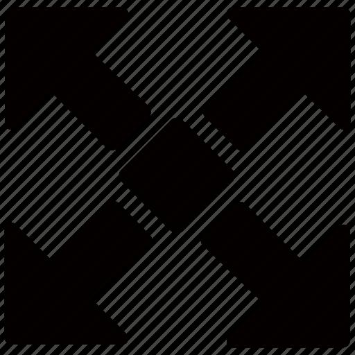 expand, maximise, maximize, stretch icon