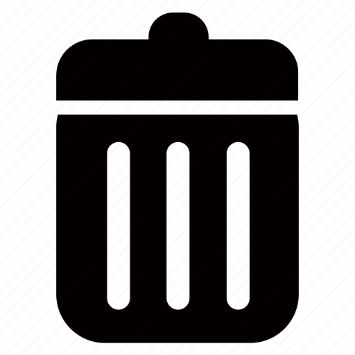 bin, can, delete, garbage, recycling, trash icon