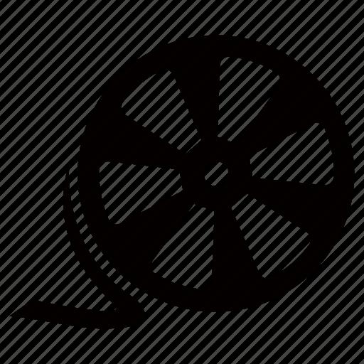 audiovisual, av, film, movie, reel, video icon