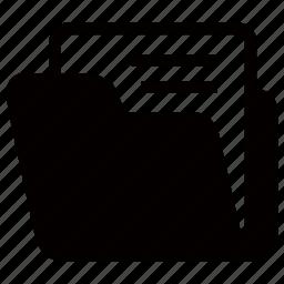 data, document, file, folder, open icon