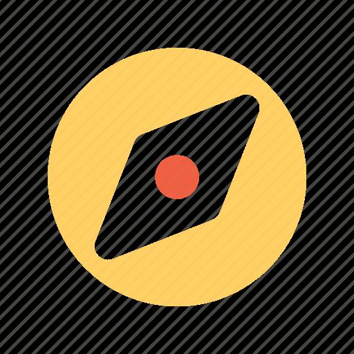 compass, explore, travel icon