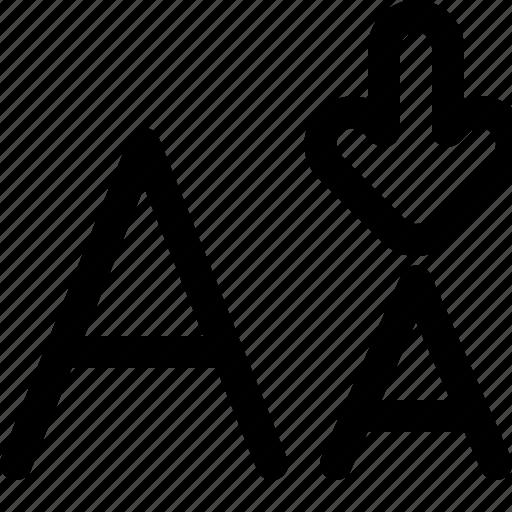 arrow, decrease, interaction, interface, user icon