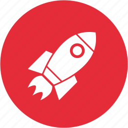 bulb, launch, power, project, quickstart, rocket, spaceship icon