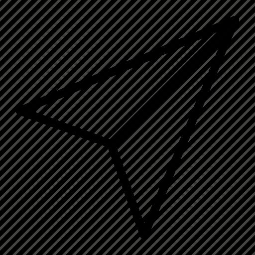 message, papperplane, send icon