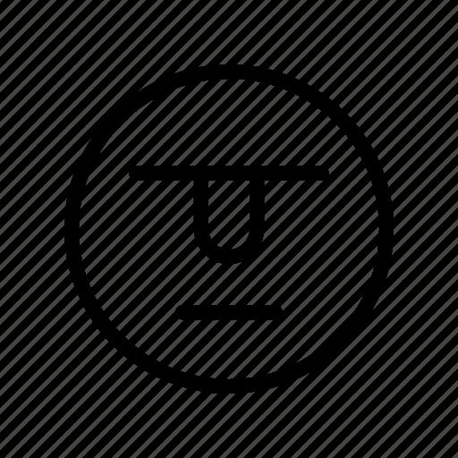 emoji, emoticon, serios icon
