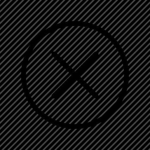 Close, cross, delete, no icon - Download on Iconfinder