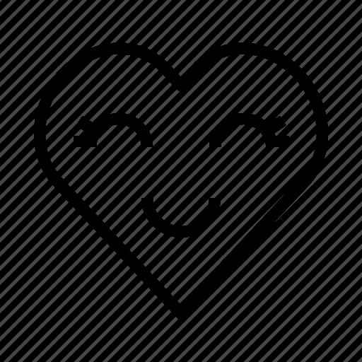 cute, heart, like, love icon