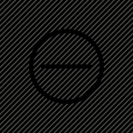 less, minus, remove, subtract icon