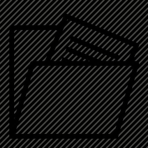 file, folder, full icon