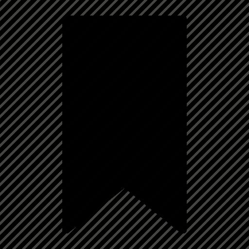 bookmark, mark, ribbon icon