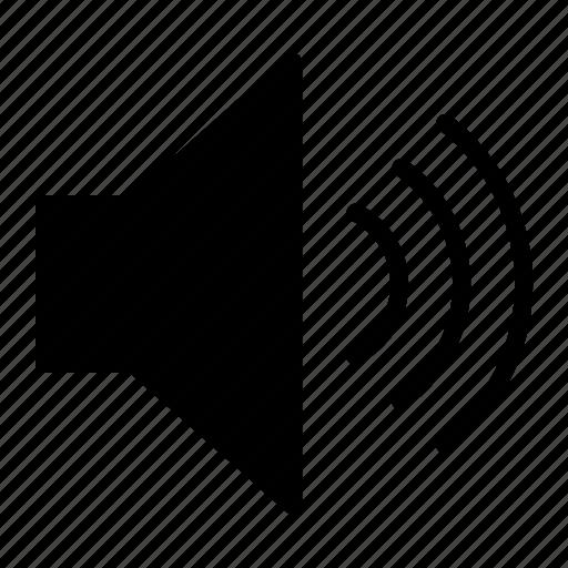 audio, full, sound, volume icon