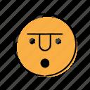 emoticon, hand-drawn, surprise, wow icon