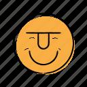 emoticon, hand-drawn, happy, smily icon