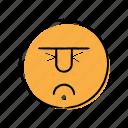 angry, emoticon, hand-drawn, sad icon
