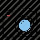 camera, hand-drawn, image, picture icon