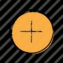 add, hand-drawn, more, plus icon