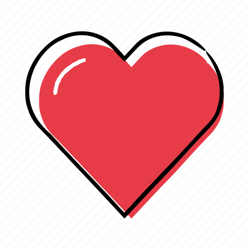 Hand-drawn, heart, like, love icon - Download on Iconfinder