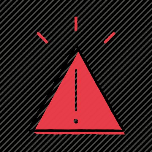 alert, hand-drawn, notification, warning icon