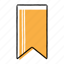 bookmark, favourite, hand-drawn, mark icon